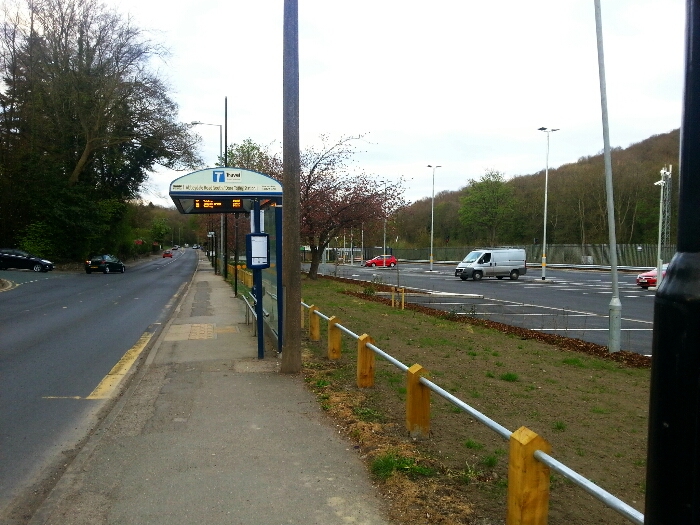 Bus stop outside Dore station