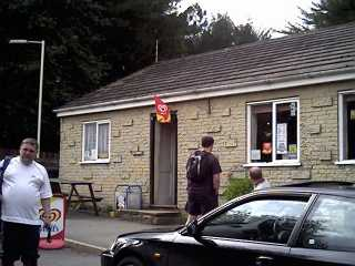 The cafe next to the railway station at Edale