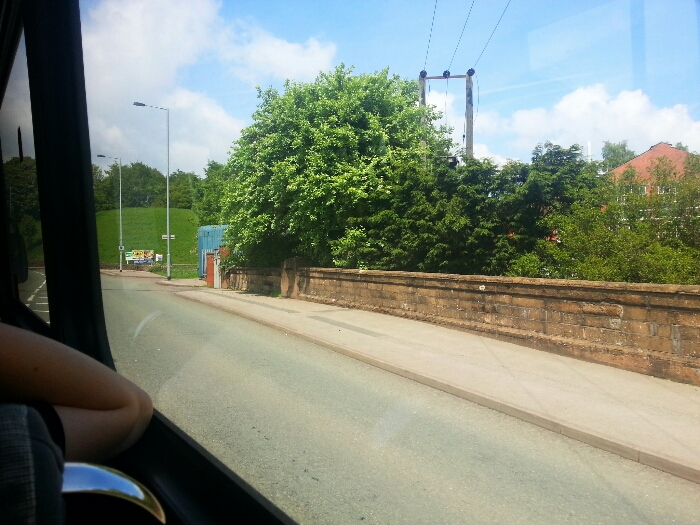 Crossing the River Churnet on Macclesfield Rd the A523 in Leek Staffordshire