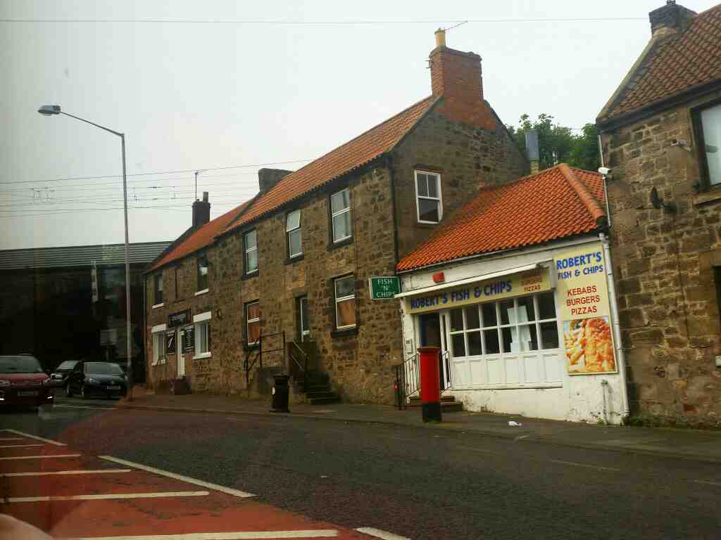 Roberts Fish and Chips Main St Tweedmouth passed on a 477 bus