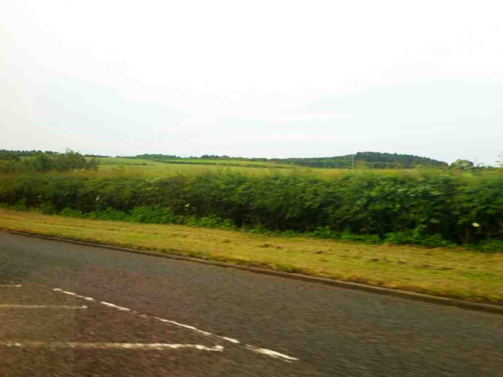 The A1167 between Tweedmouth and Scremerston off a 477 bus