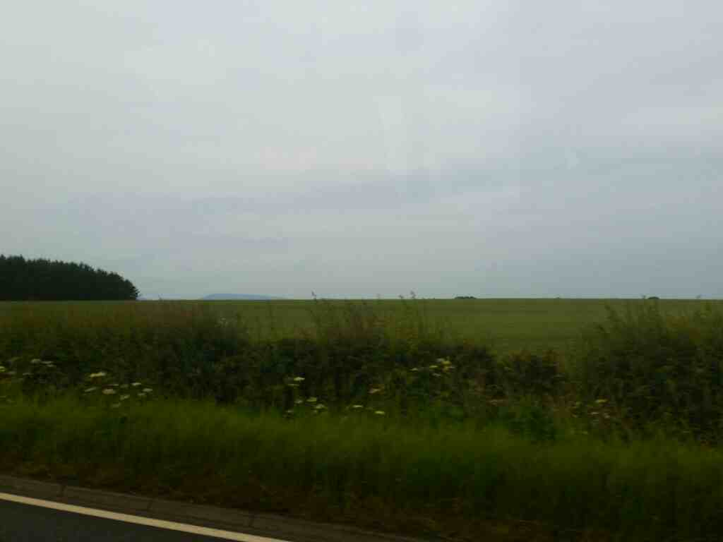 A1 south of Berwick Upon Tweed on a 477 bus