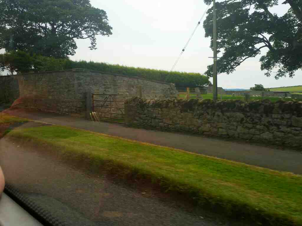 Passing through Beal on the road to Lindisfarne on a 477 bus