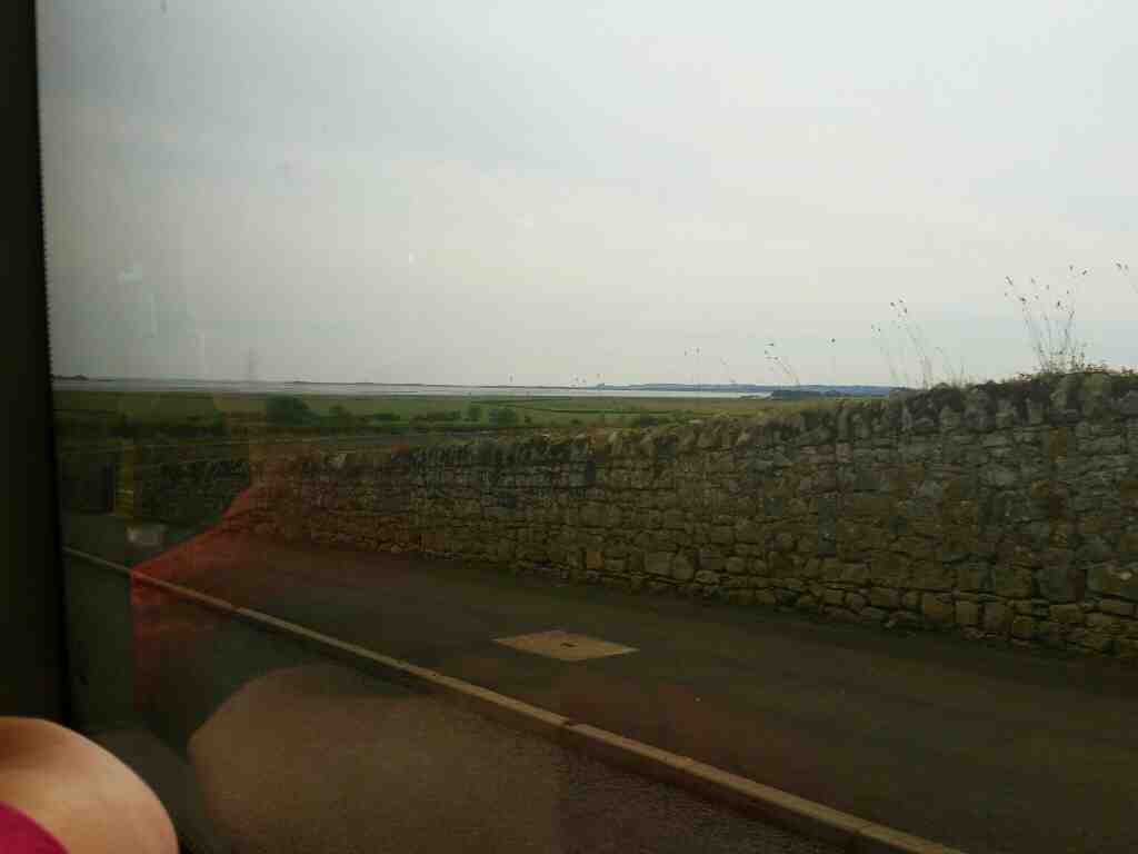 View of the sea from Beal off a 477 bus