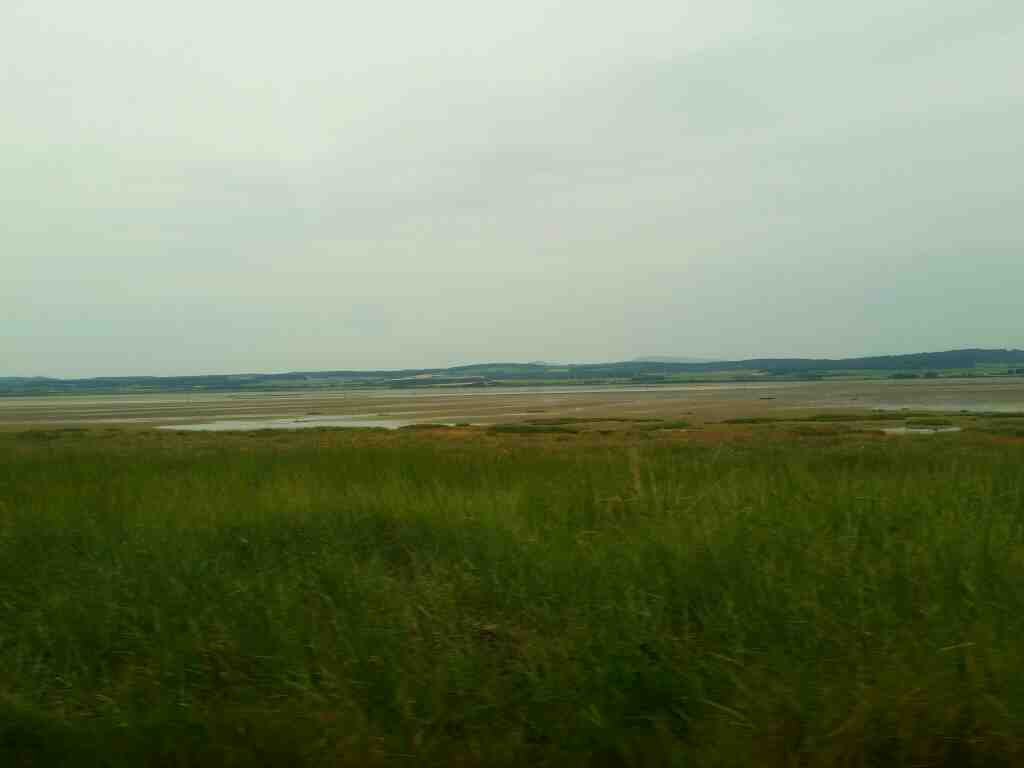 View of the Cheviot Hills from Holy Island off a 477 bus