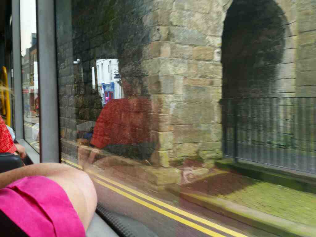 Passing under Berwick Ramparts on Castlegate on a 477 bus