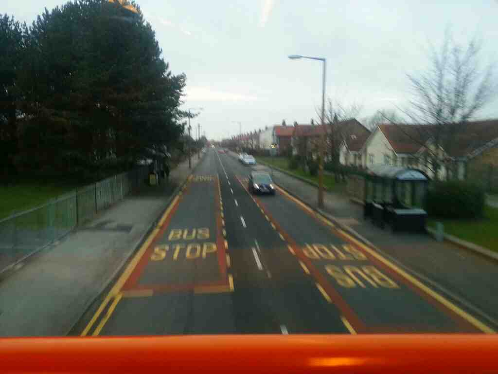Albany Rd Lytham St Annes on a 68 bus