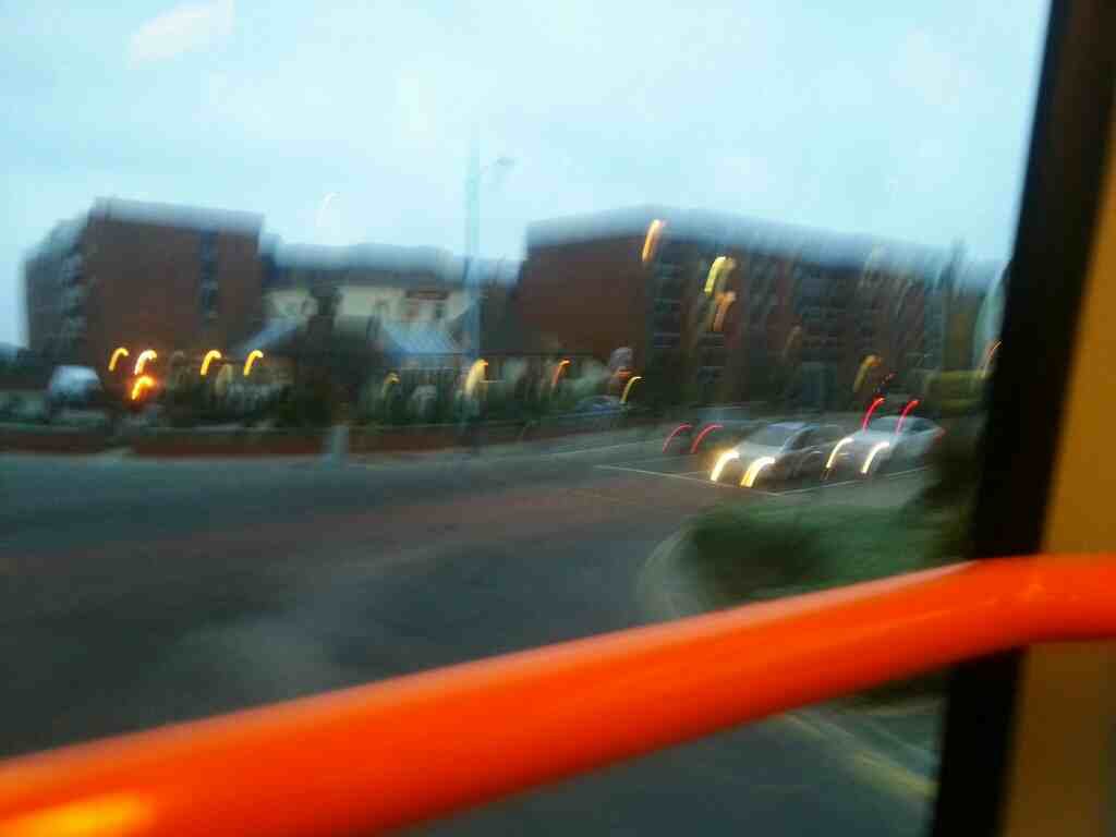 Turning right into Clifton Drive North on a 68 bus Lytham St Annes