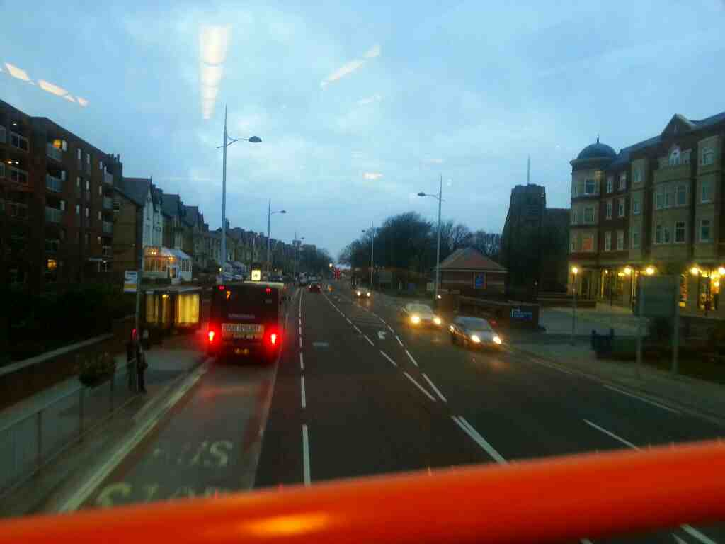 Clifton Dr North St Annes on a 68 bus also a7 bus can be seen