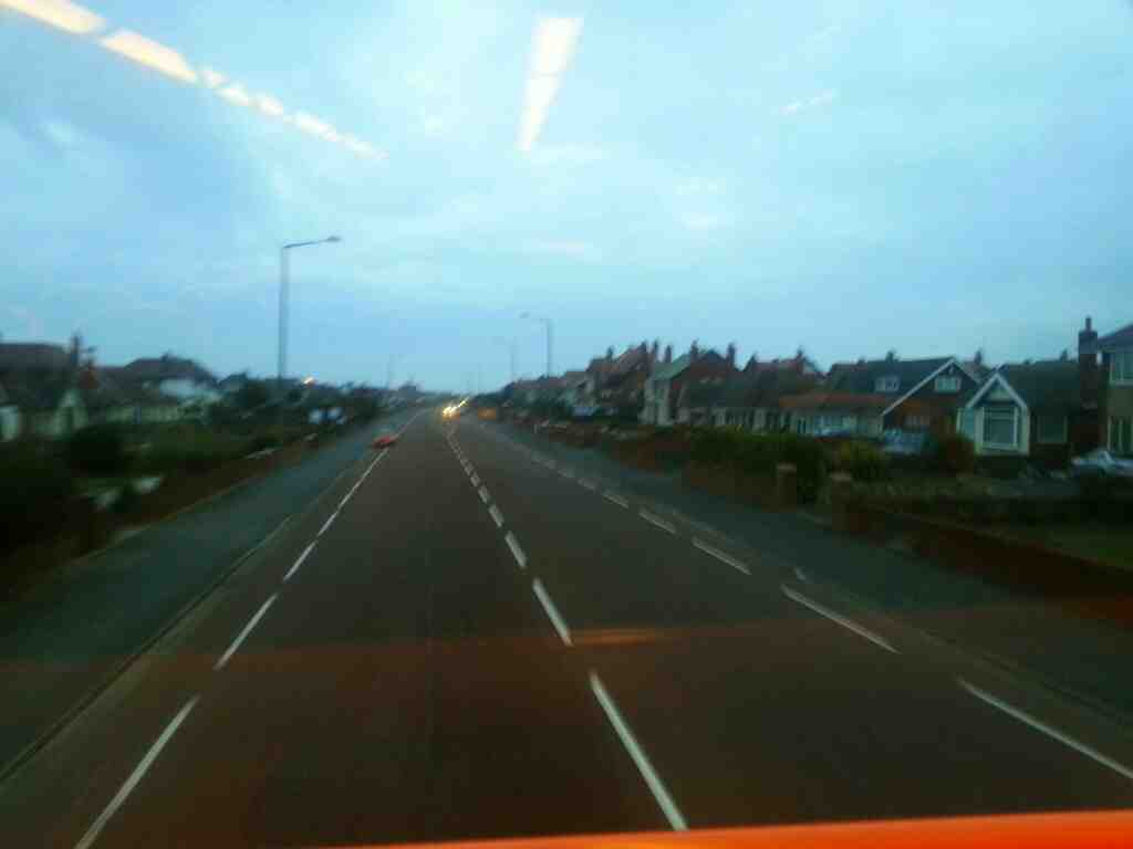 Clifton Drive North St Annes on 68 bus lots of bungalows
