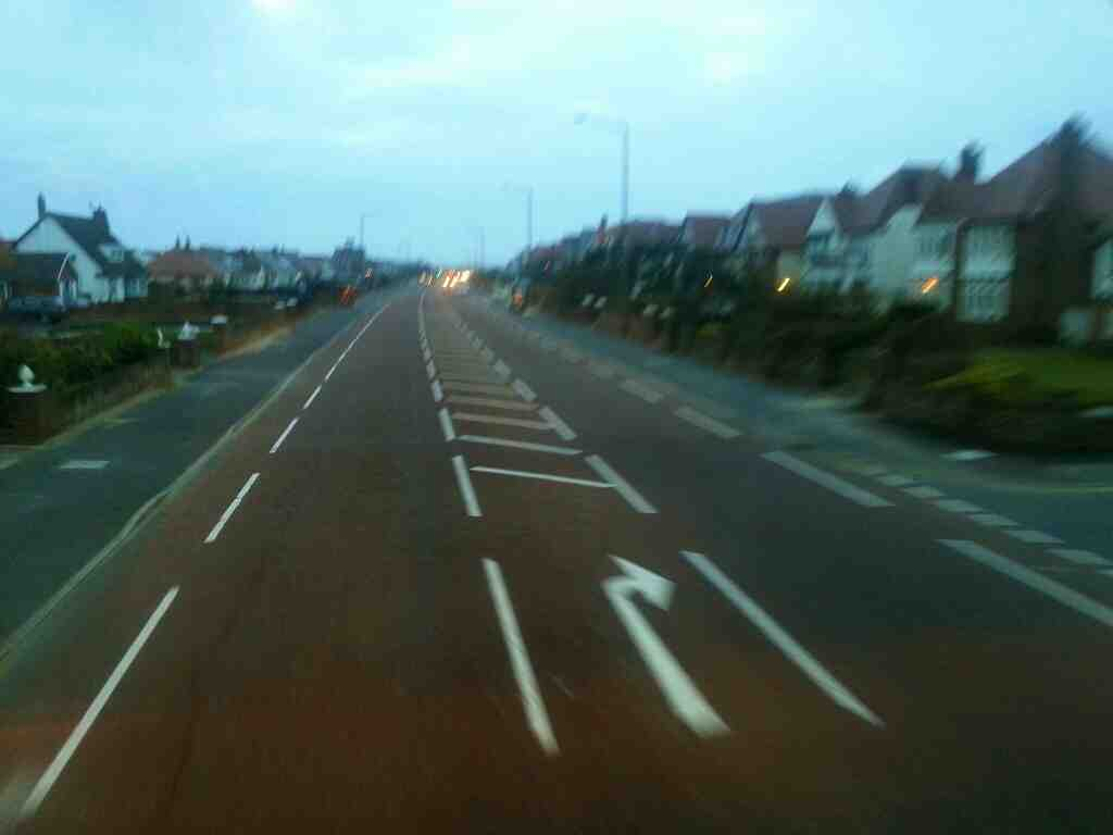 Junction of Clifton Drine North and St hilda's Rd Lytham St Annes of a 68 bus