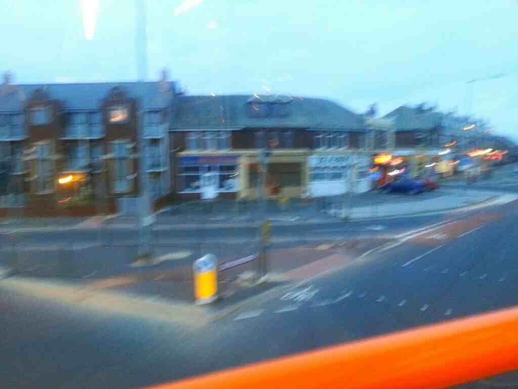 Turning right into Squires gate Lane fro Clifton Drive North Blackpool Lancashire on a 68 bus