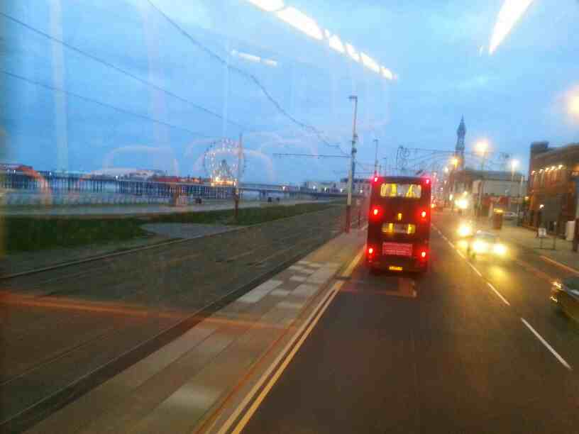 Promanade Blackpool on a 68 bus
