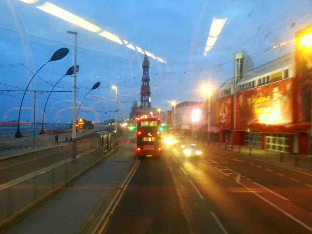 Passes Madame Tussauds the Promanade Blackpool on a 68 bus