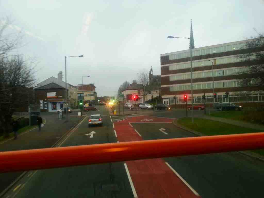 Leaving the Adelphi Quarter to pass into Fylde Road Preston on a 68 bus bound for Blackpool