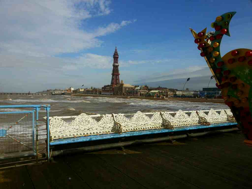 Blackpool tower as seen from Central Pier
