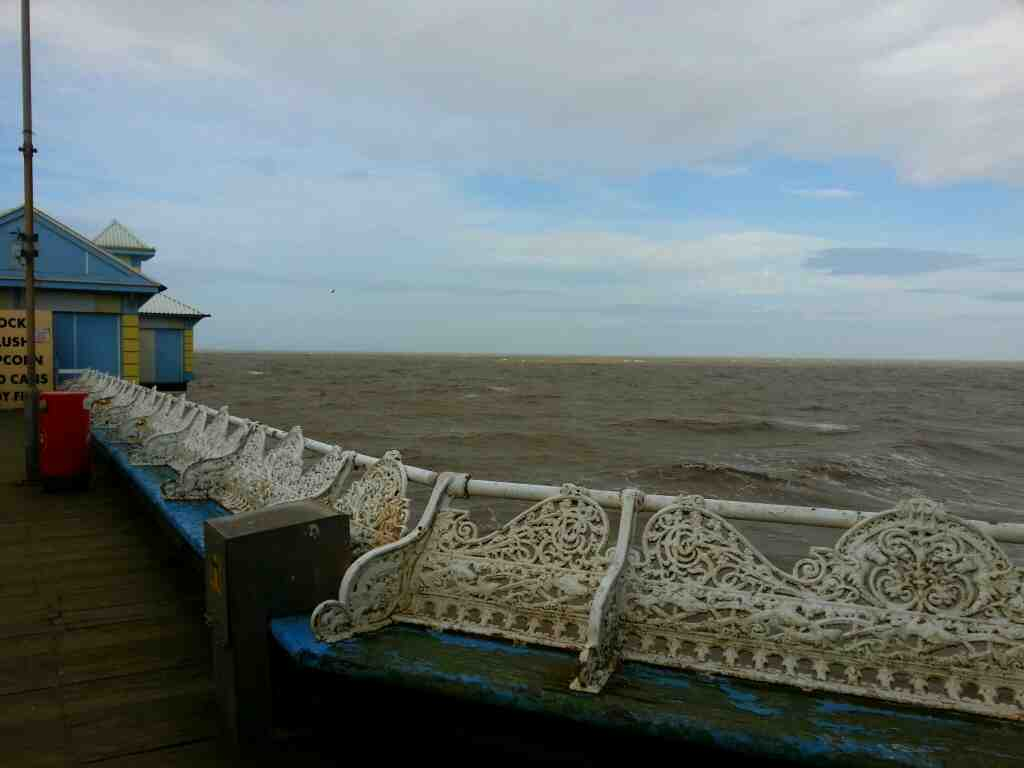 Looking out to sea from Central Pier Blackpool