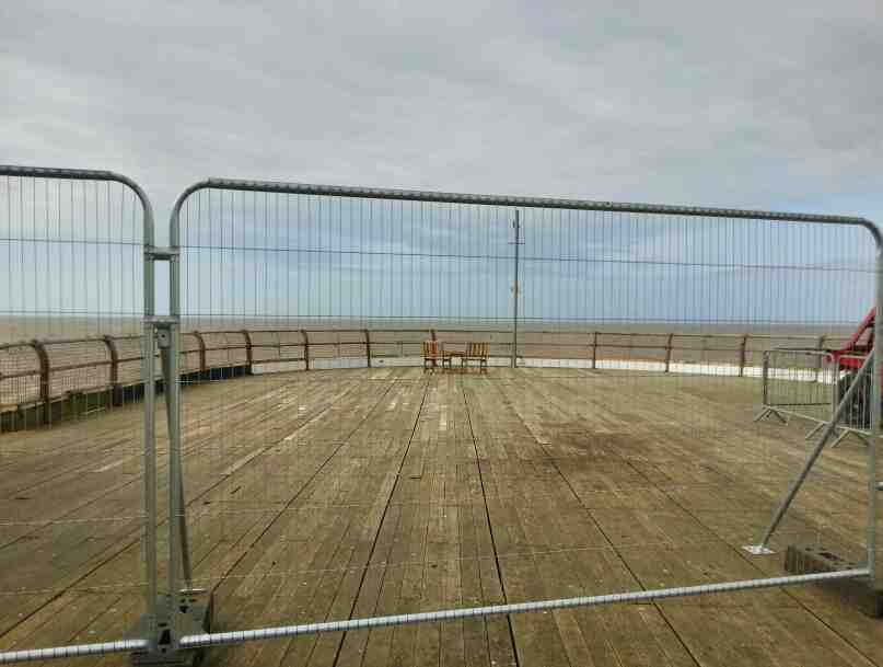 The end of the North Pier Blackpool