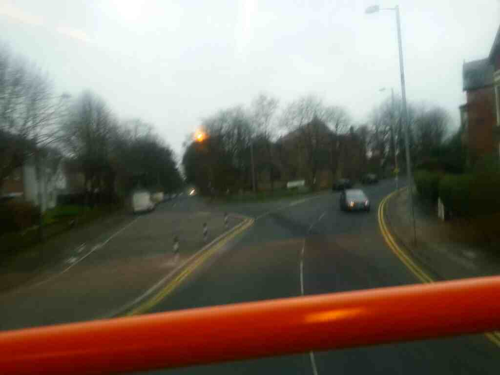 Junction of Tulketh Rd and Egerton Rd Preston on a 68 bus