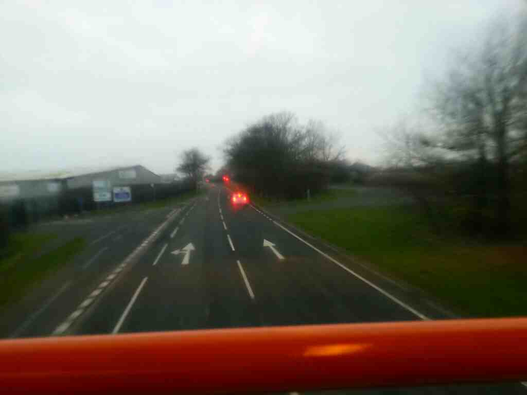 Flying along the A584 Preston New Road on a 68 bus
