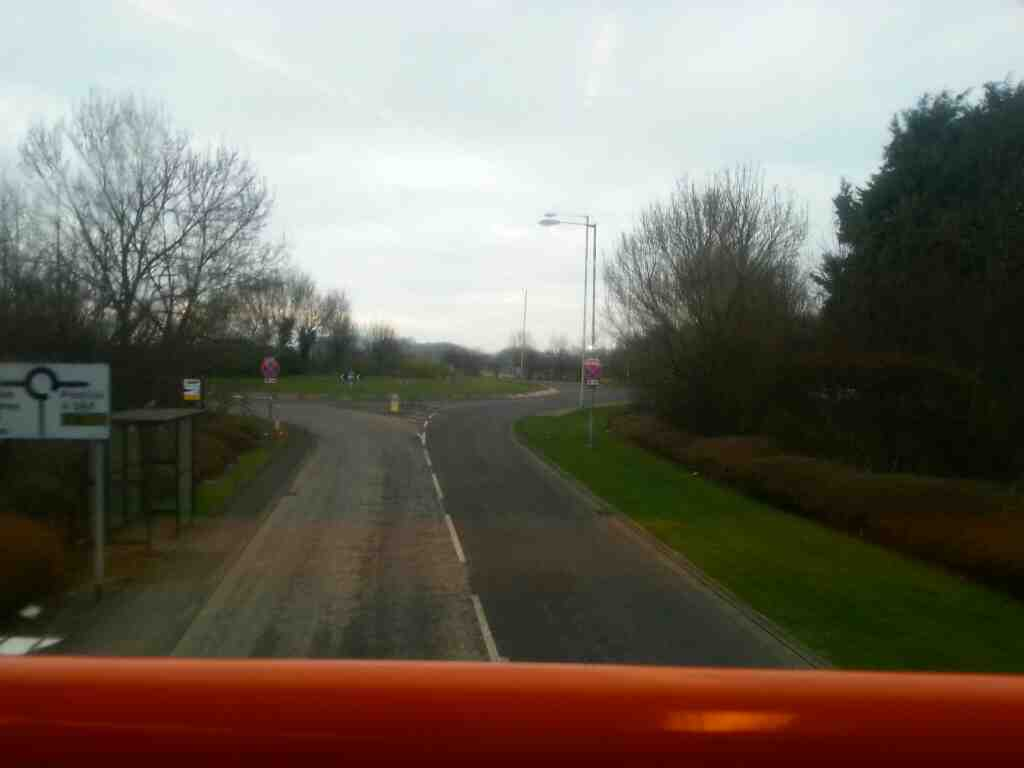 Approaching the A584 from Lytham Rd Freckleton on a 68 bus