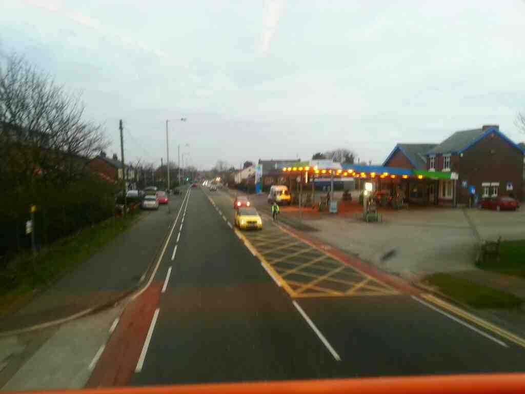 Lytham Road.Warton Lancashire on a 68 bus