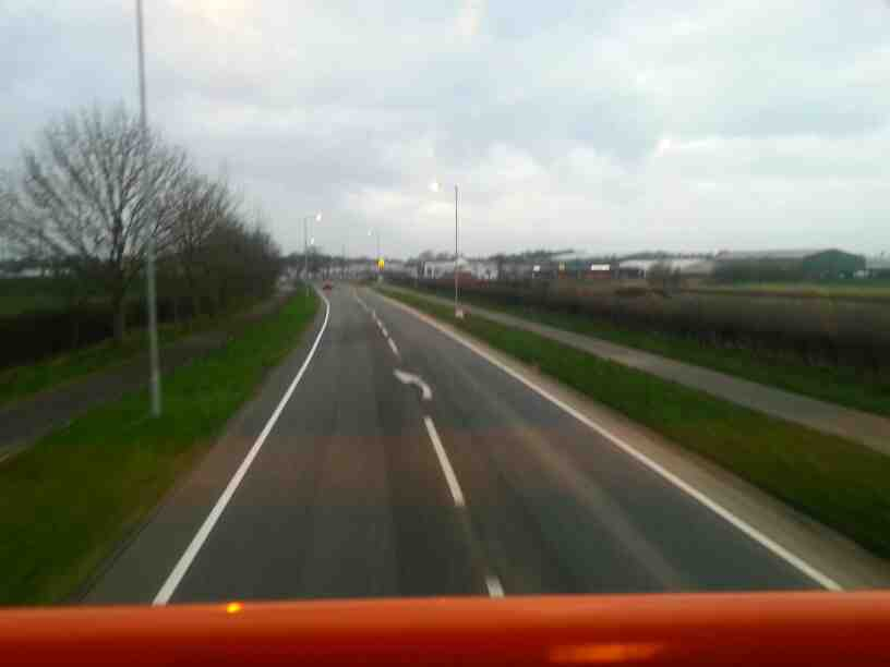 On Lytham Rd the A584 heading towards Lytham on a 68 bus bound for Blackpool