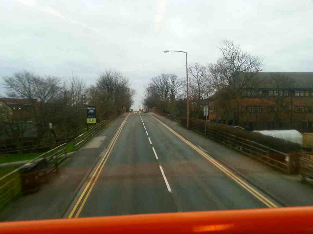 Park View Road Lytham Lancs about to cross the Preston to Blackpool South Railway