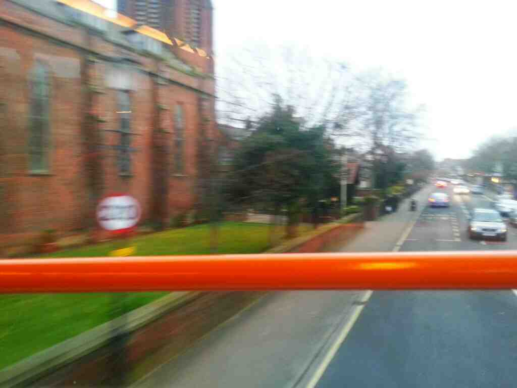Passing St Peters Roman Catholic Church Lytham on a 68 bus
