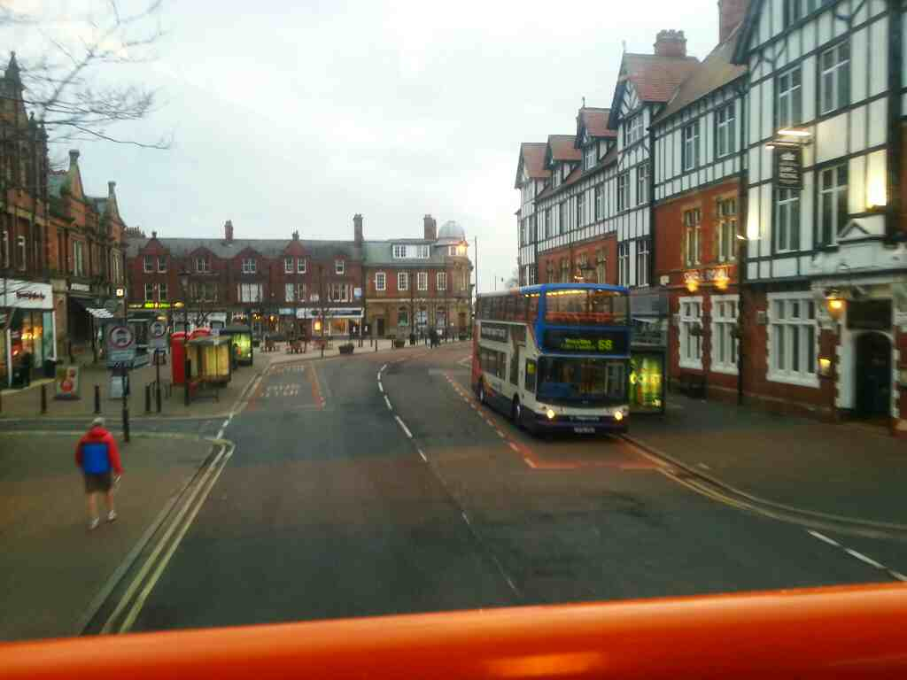 Passing through the centre of Lytham on a 68 bus