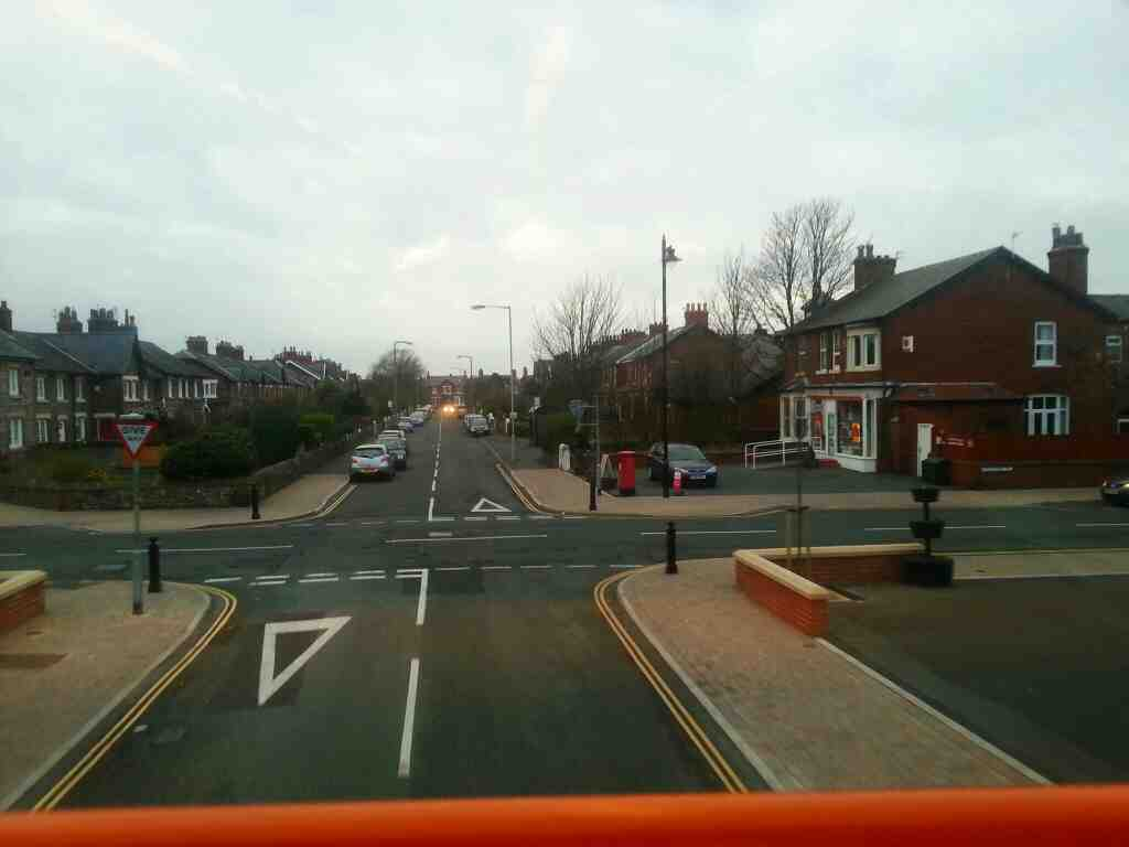 Crossroads of Commonside and Woodlands Road Lytham St Annes