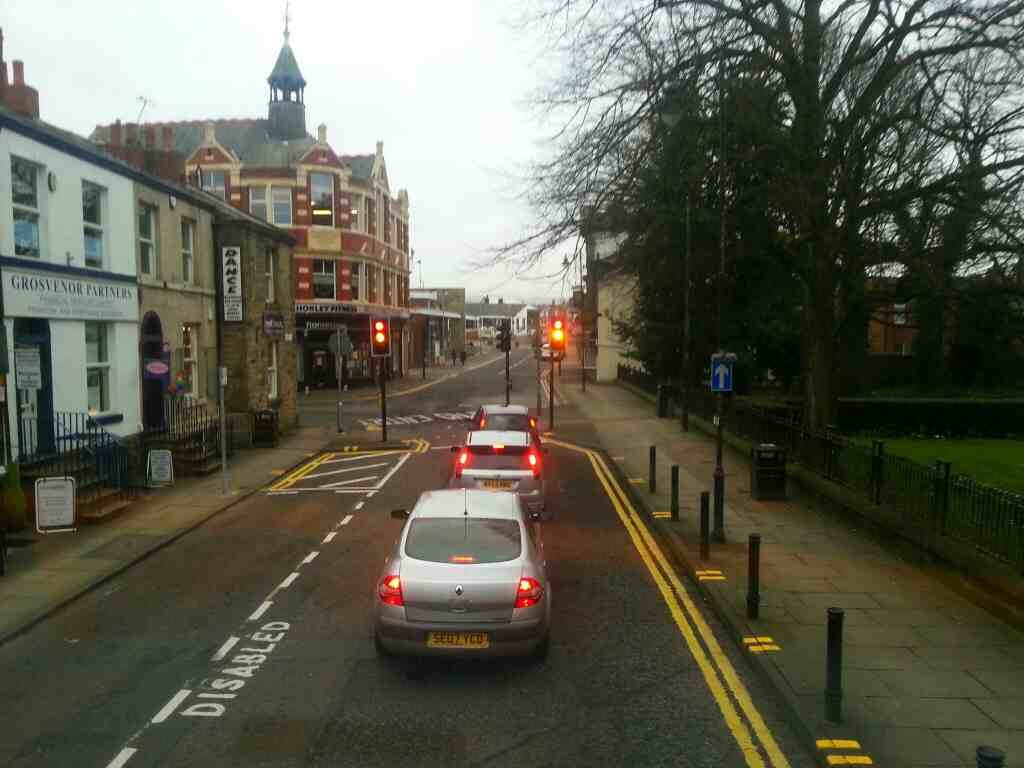 Chapel St Chorley on a 125 bus