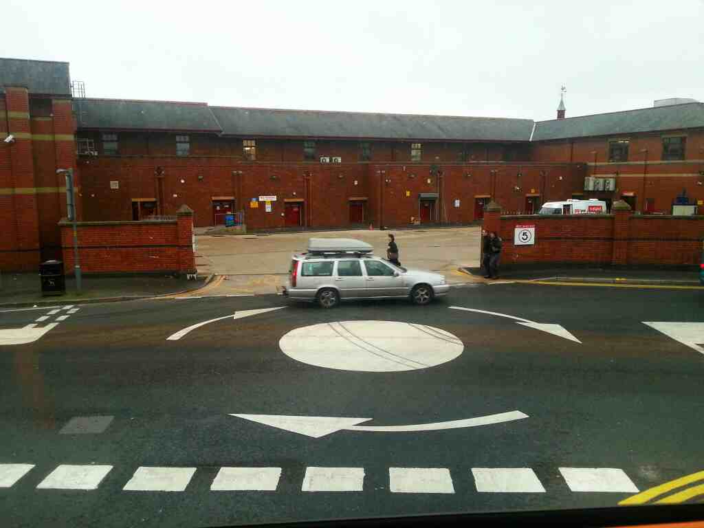 Mini Roundabout Clifford St Chorley on a 125 bus