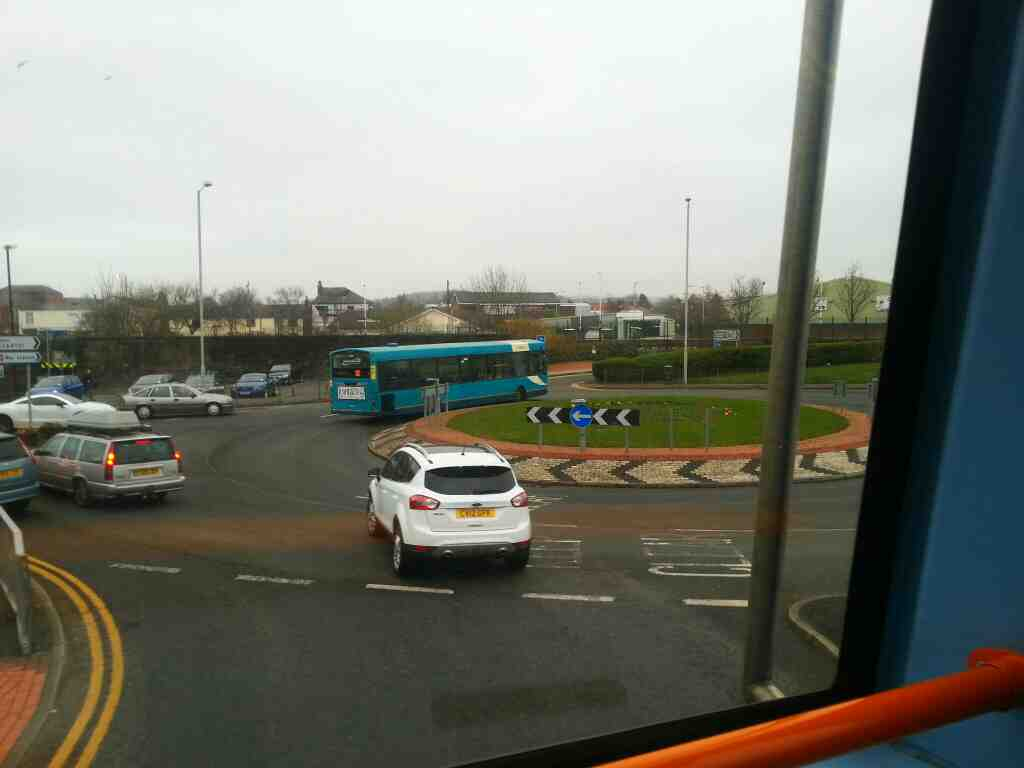 Clifford St the A6 Chorley on a 125 bus