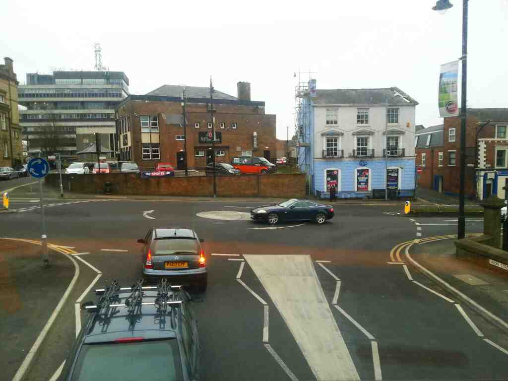 Junction of Park Rd and Union St Chorley on a 125 bus