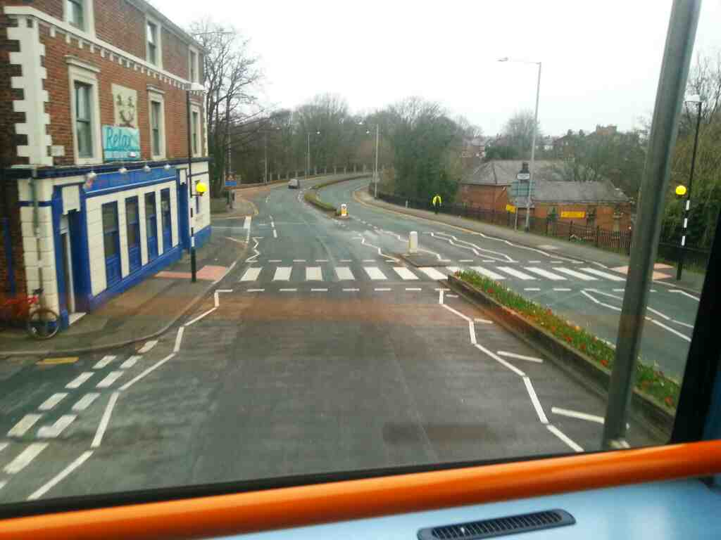 Park Road Chorley on a 125 bus