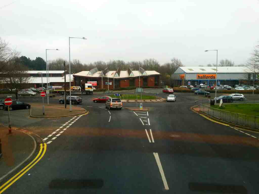 Roundabout Commercial Road Water Street the A6 Chorley