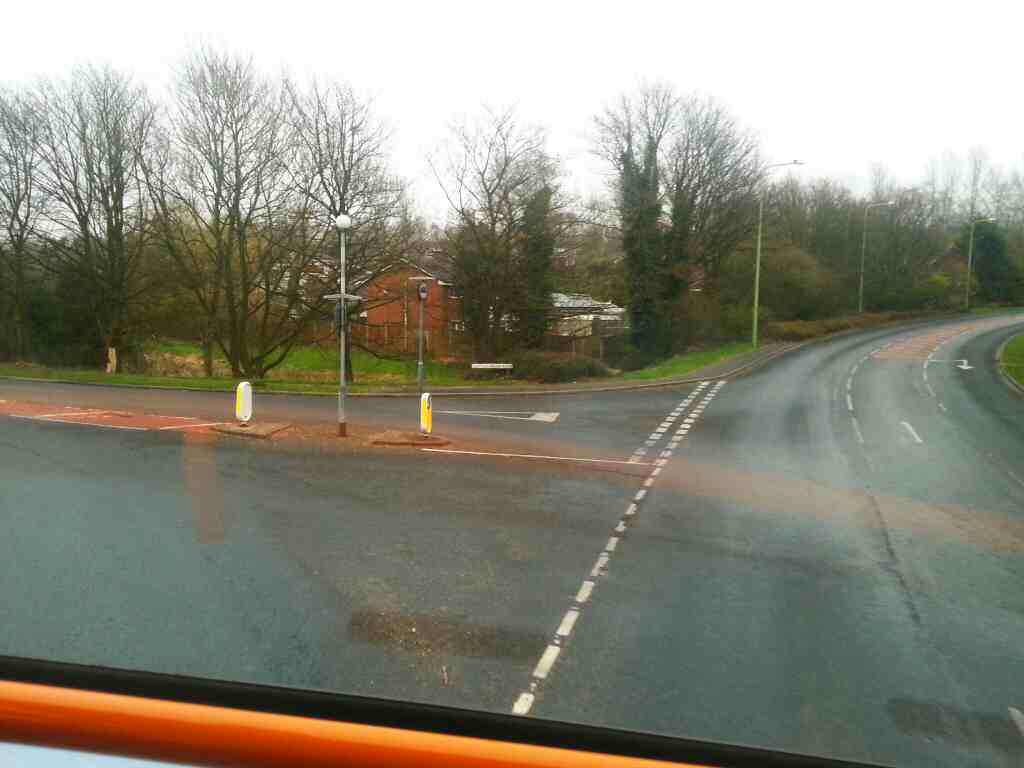 Junction of Westwood Rd and Clayton Brook Rd on a 125 bus