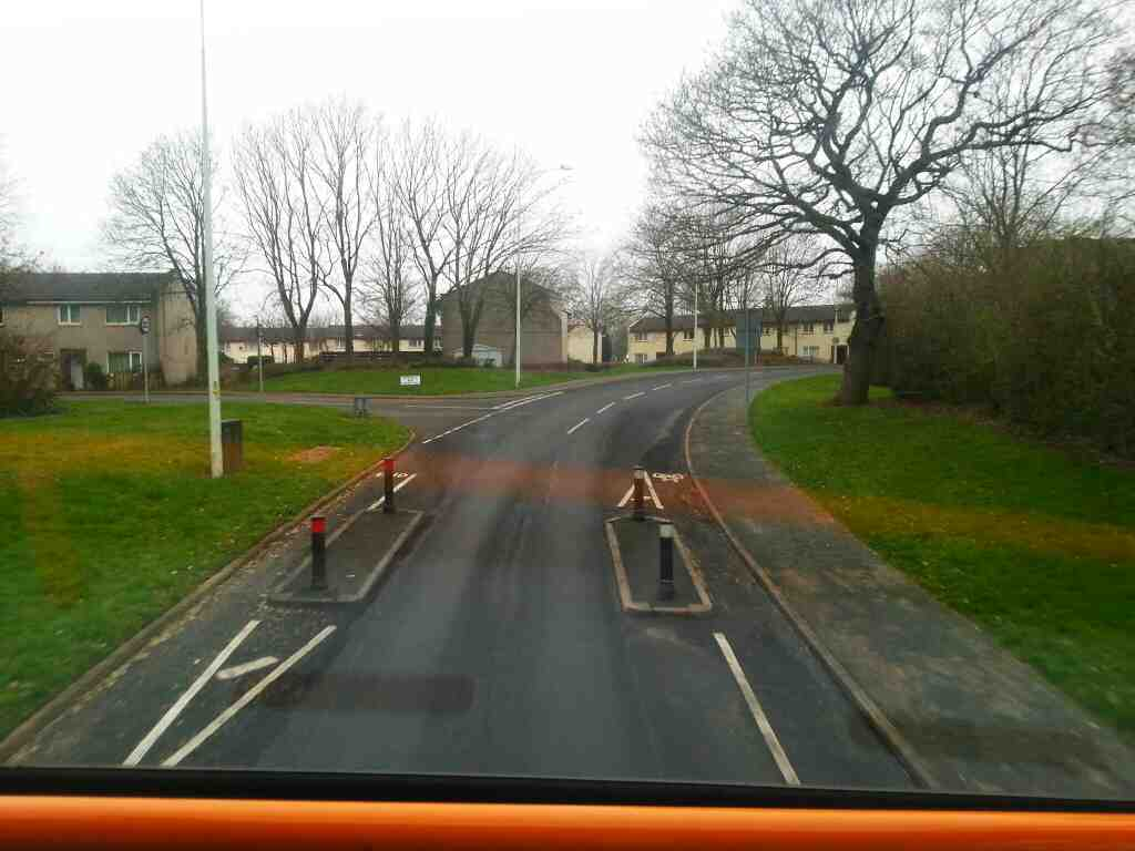 Great Greens lane junction of Reedfield and Homestead on a 125 bus