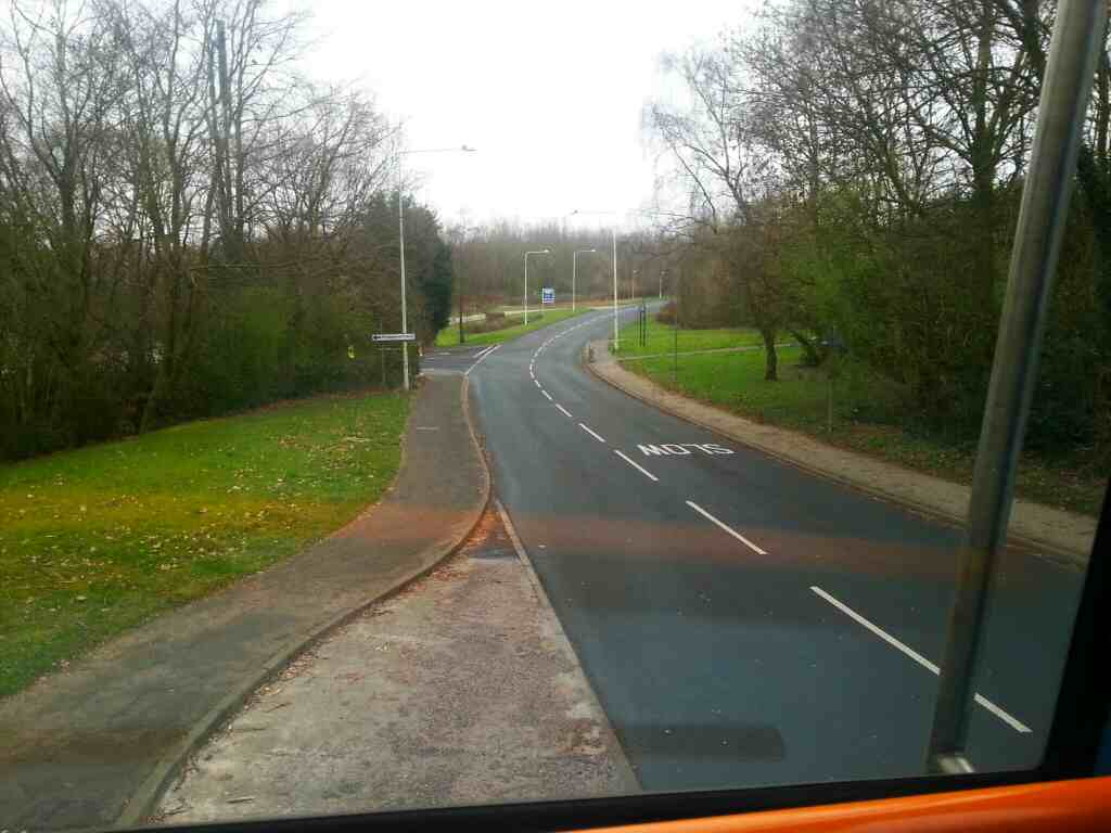 Clayton Brook Road on a 125 bus
