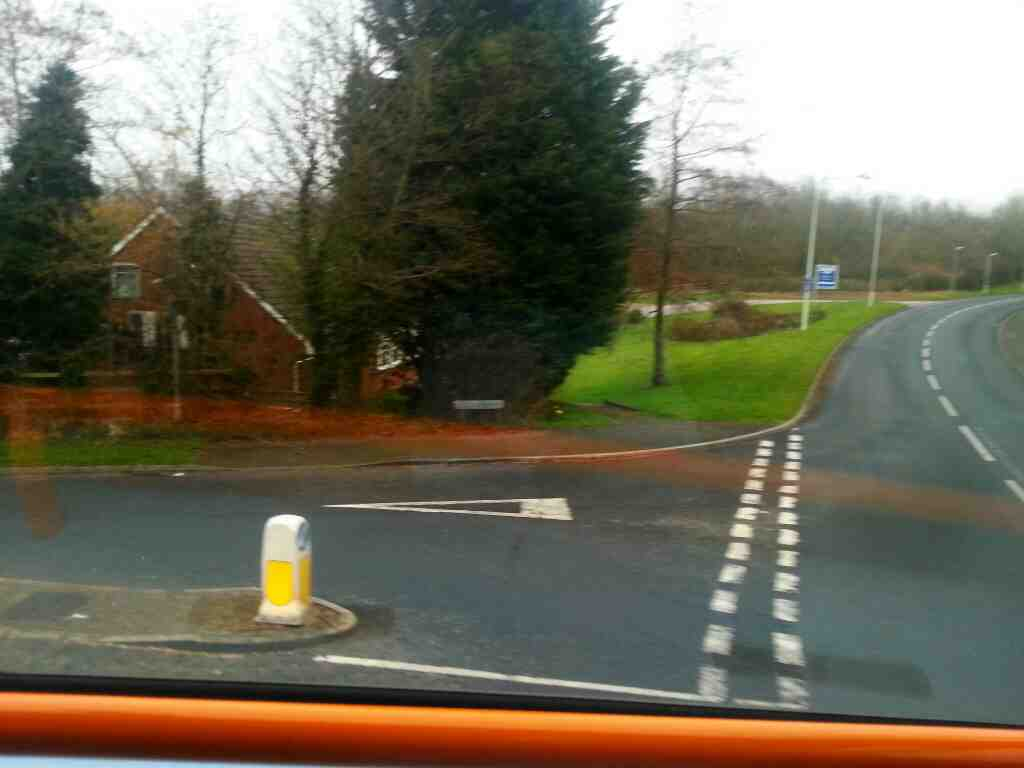 Turning left from Clayton Brook Rd into Brow Hey on a 125 bus