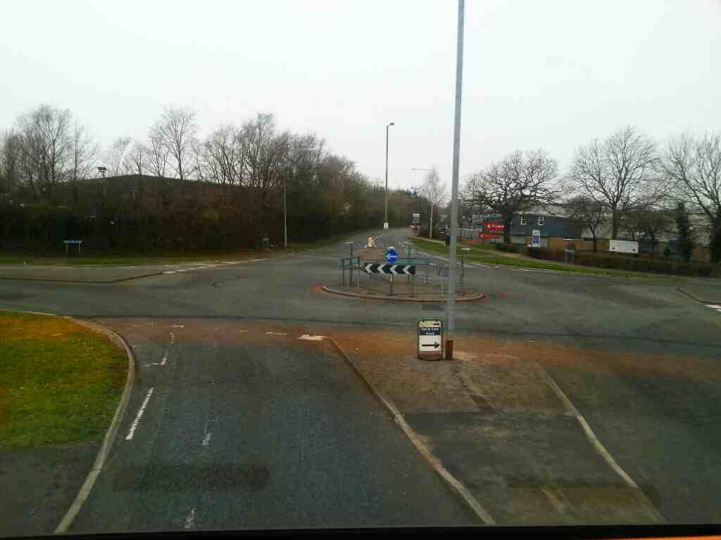 Junction of Four Oaks Road Tramway Lane and Brierlley Rd on a 125 bus