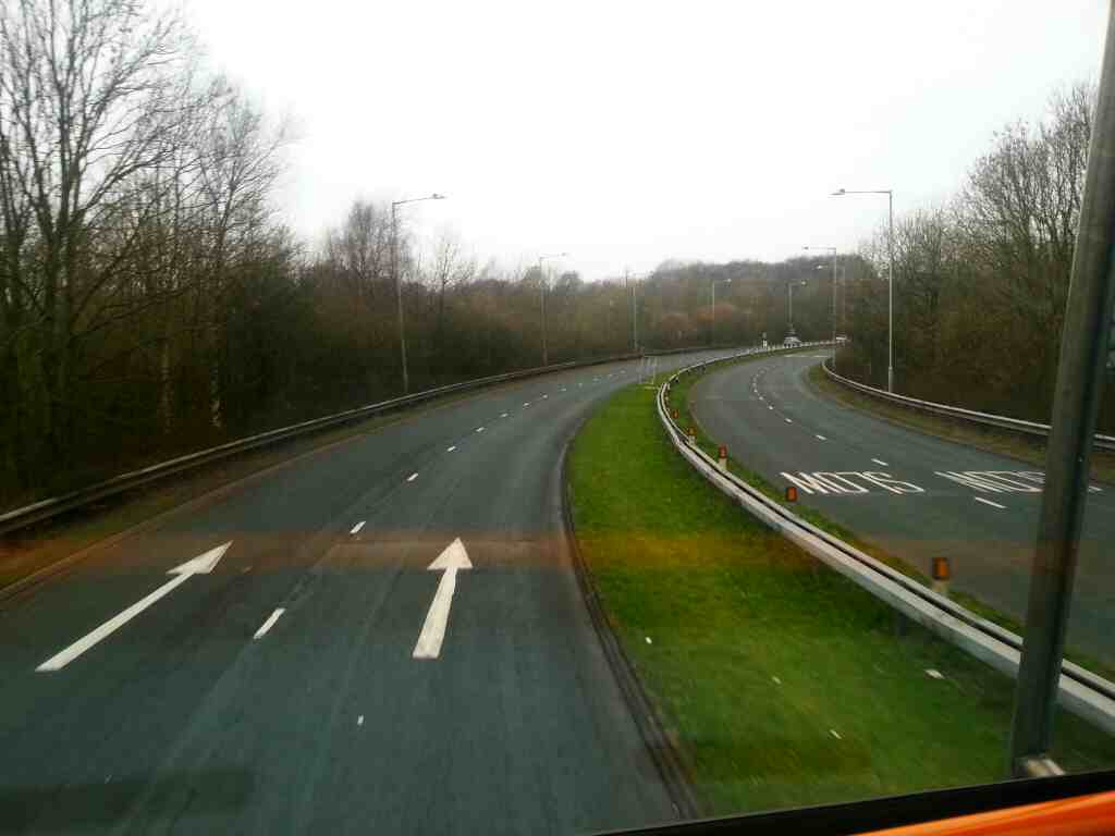 Lostock Lane the A6 on a 125 bus