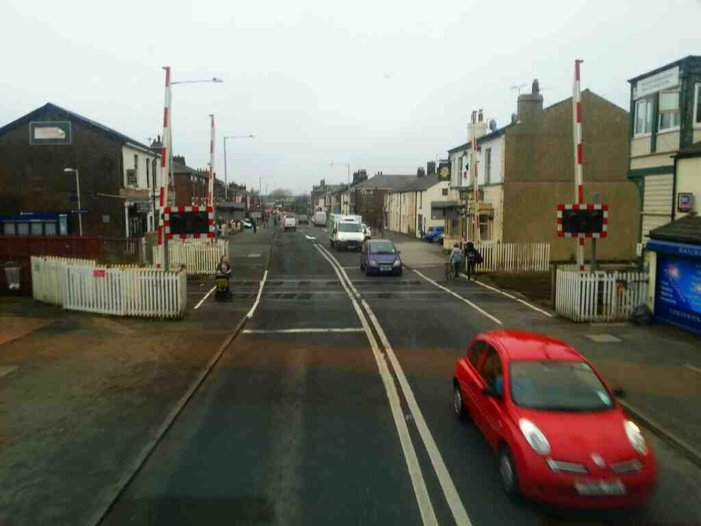 Level Crossing Bamber Bride on a 125 bus