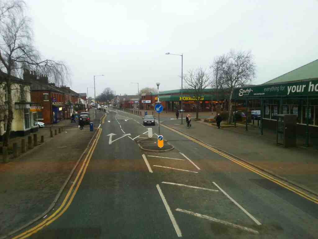 Morrisons Station Road Bamber Bridge from a 125 bus