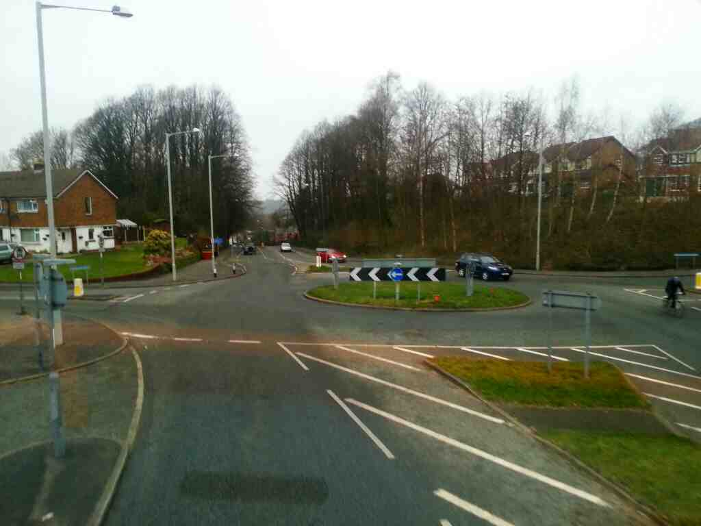 Junction of Holland House Rd Windsor Rd and Chorley Rd Walton Le Dale on a 125 bus