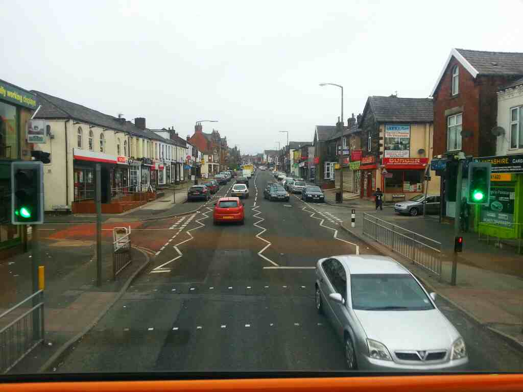 Junction of Marsh Fold Lane and Old Chorley Rd Bolton on a 125 bus