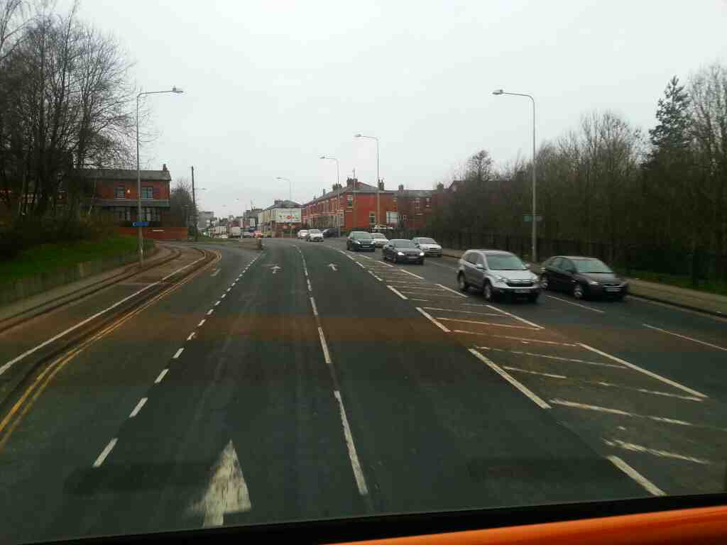 London Rd the A6 Preston on a 125 bus