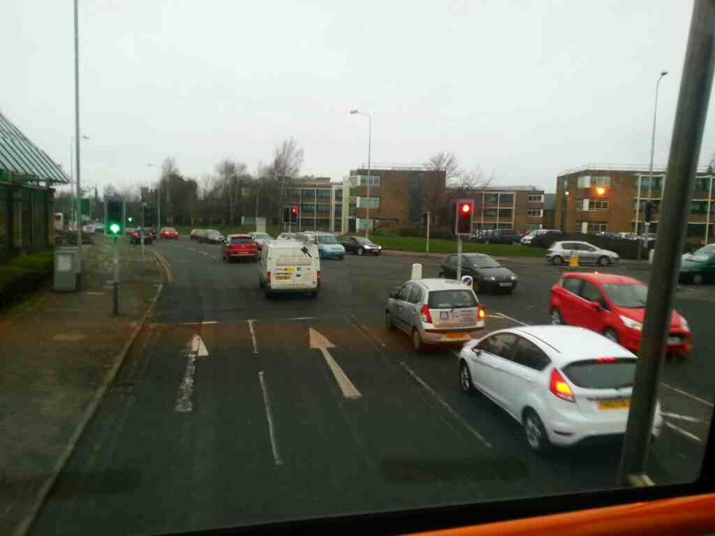 Junction of New Hall Lane and London Rd the A6 Preston the A6 on a 125 bus