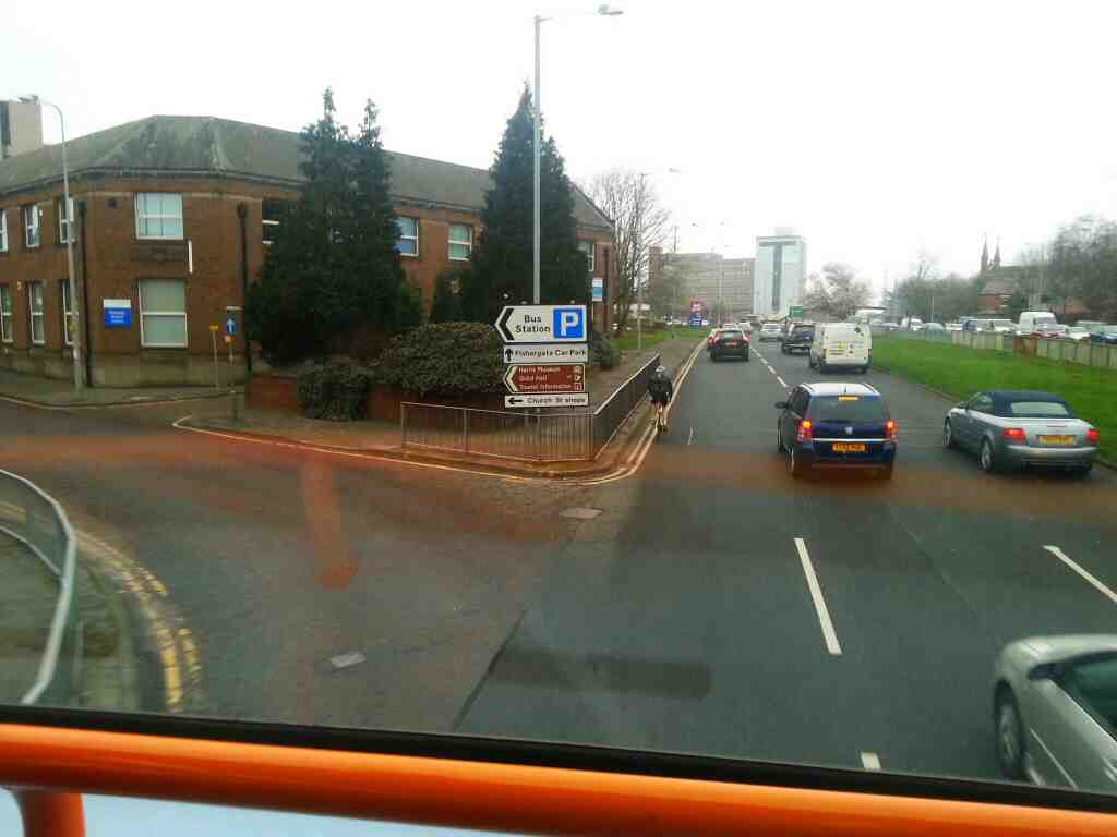 Junction of Percy St and Ring Way A6 Preston on a 125 bus